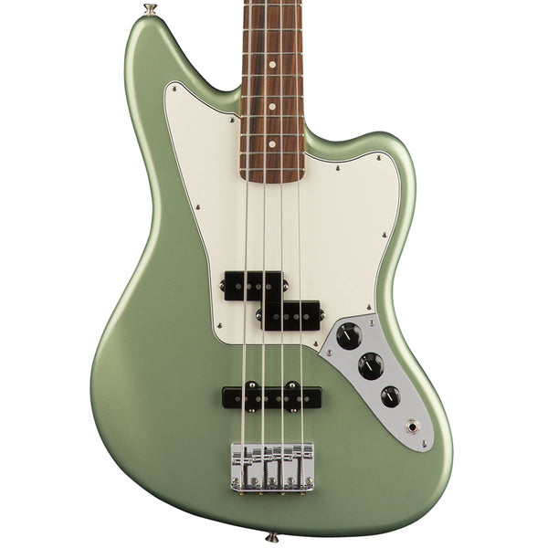 Fender Player Jaguar Bass, Pau Ferro, Sage Green Metallic | Lucky Fret Music Co.