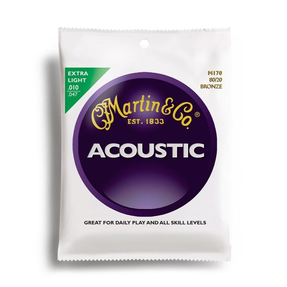 Martin M170 Bronze Extra Light Acoustic Strings - 10-47