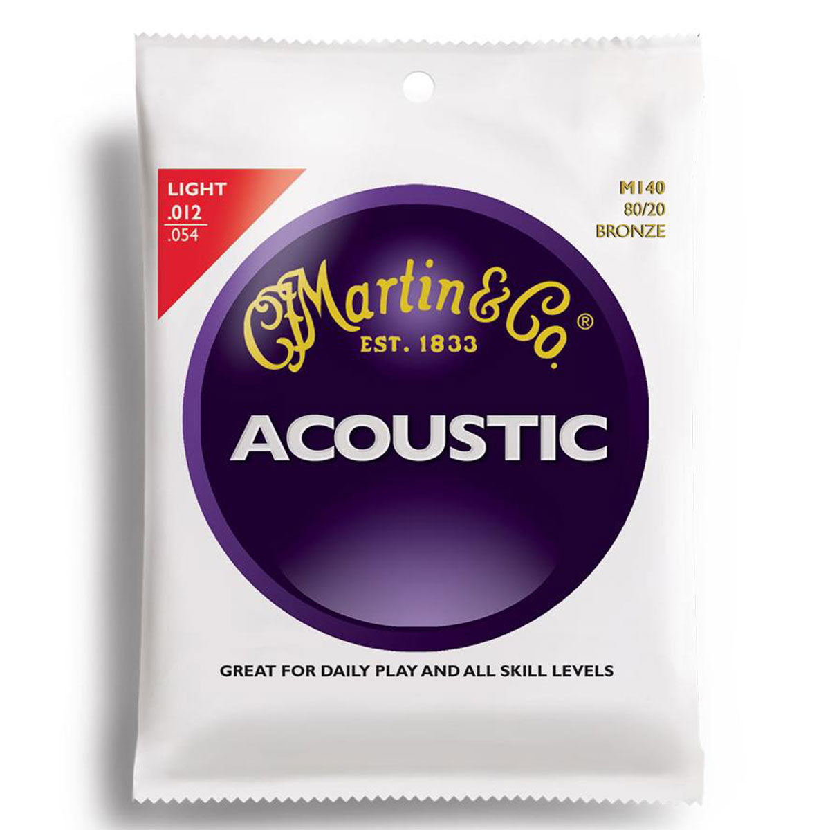 Martin M140 Bronze Light Acoustic Strings - 12-54