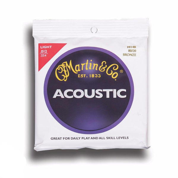 Martin MSP4100 Phosphor Bronze Light Acoustic Strings - 12-54 - Vintage Guitar Boutique