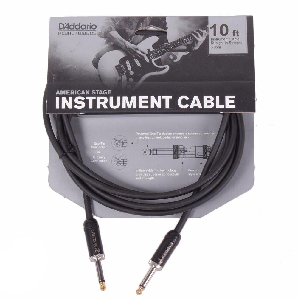 Planet Waves American Stage 10ft Cable - Straight - Vintage Guitar Boutique