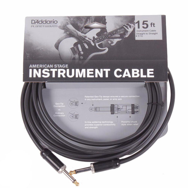 Planet Waves American Stage 15ft Cable - Straight - Vintage Guitar Boutique