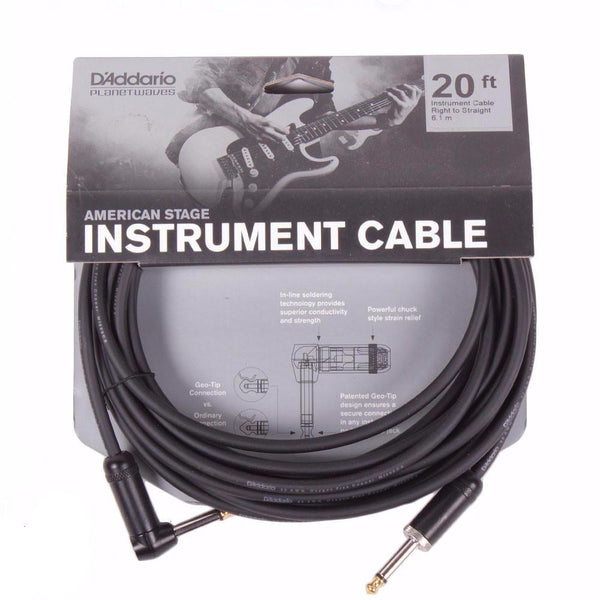 Planet Waves American Stage 20ft Cable - Angled - Vintage Guitar Boutique