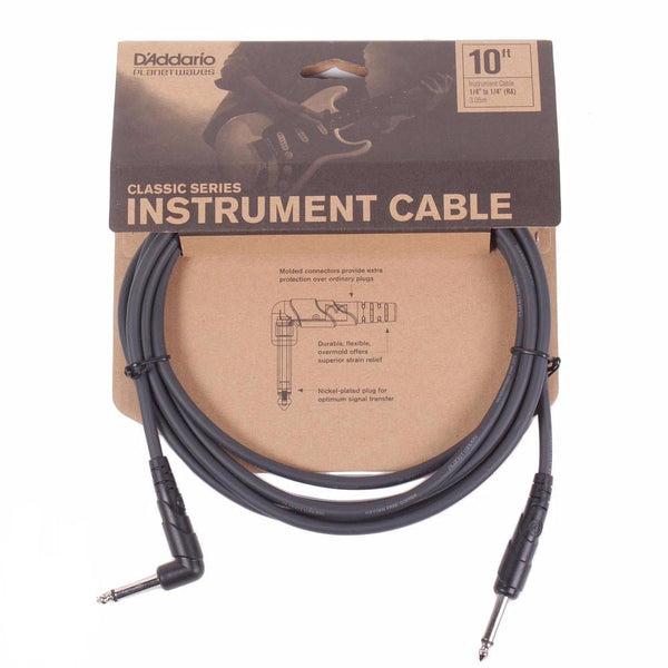 Planet Waves Classic Series 10ft Cable - Angled - Vintage Guitar Boutique