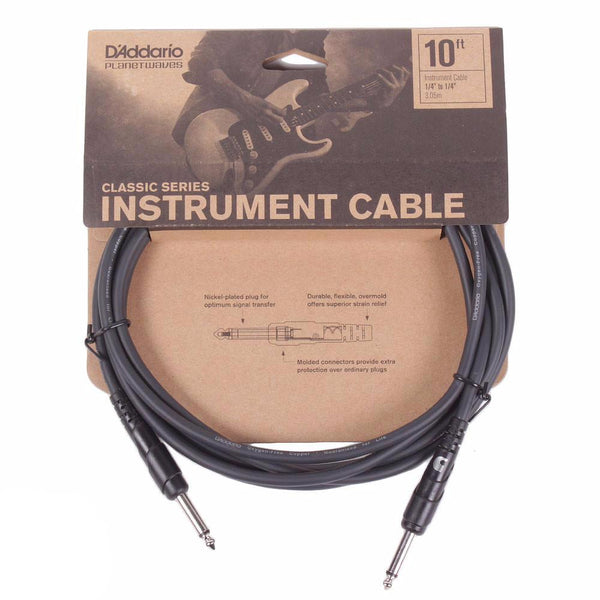 Planet Waves Classic Series 10ft Cable - Straight - Vintage Guitar Boutique