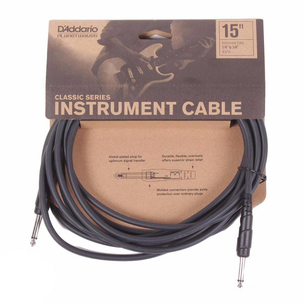 Planet Waves Classic Series 15ft Cable - Straight - Vintage Guitar Boutique