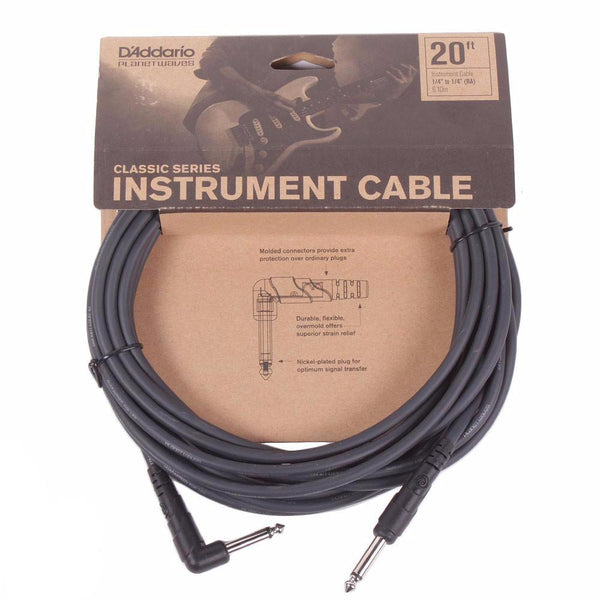 Planet Waves Classic Series 20ft Cable - Angled - Vintage Guitar Boutique