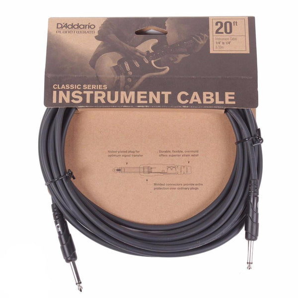 Planet Waves Classic Series 20ft Cable - Straight - Vintage Guitar Boutique