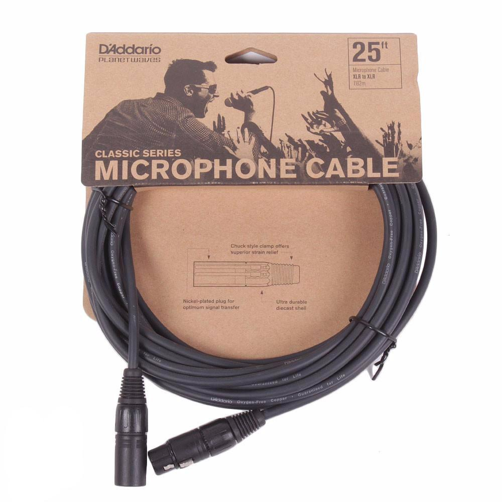 Planet Waves Classic Series 25ft Microphone Cable - Vintage Guitar Boutique