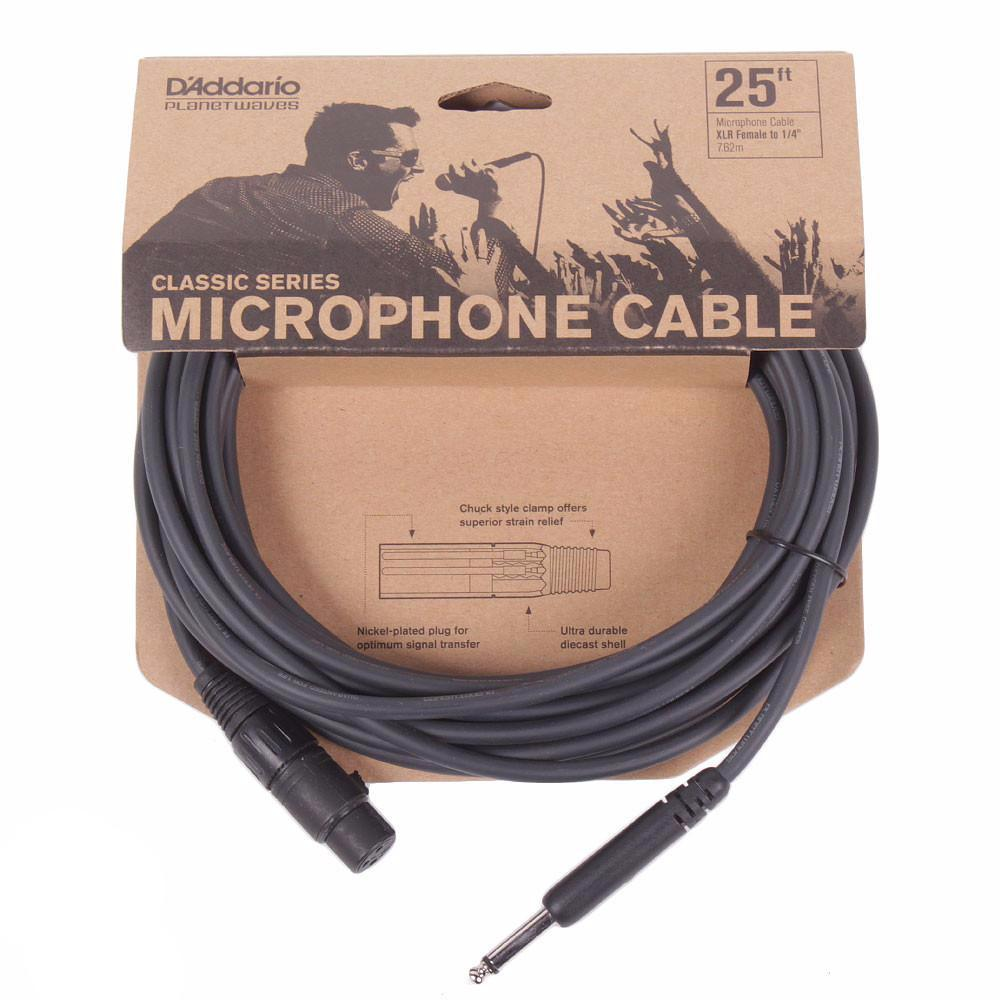 "Planet Waves Classic Series 25ft Microphone Cable - XLR-1/4"""" - Vintage Guitar Boutique"