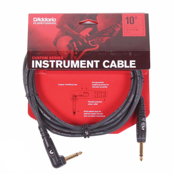 Planet Waves Custom Series 10ft Cable - Angled - Vintage Guitar Boutique