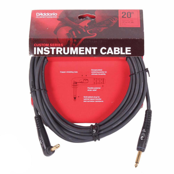 Planet Waves Custom Series 20ft Cable - Angled - Vintage Guitar Boutique