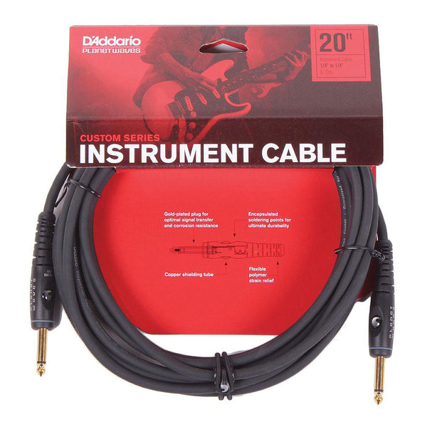Planet Waves Custom Series 20ft Cable - Straight