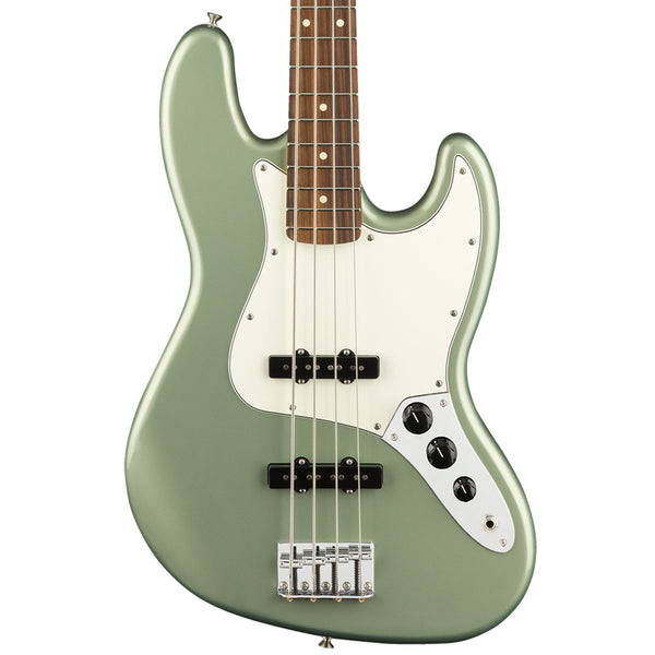 Fender Player Jazz Bass, Pau Ferro, Sage Green Metallic | Lucky Fret Music Co.