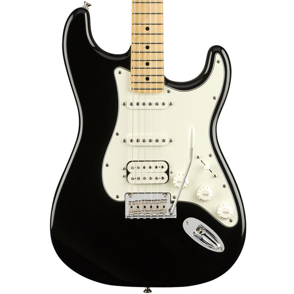 Fender Player Stratocaster HSS, Maple, Black | Lucky Fret Music Co.