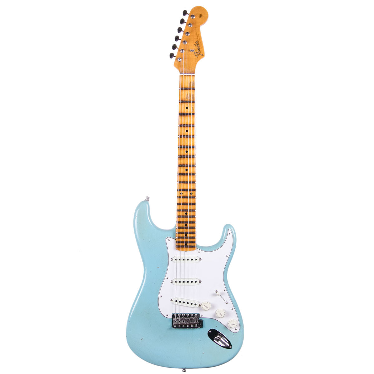 Fender Custom Shop 2018 Postmodern Strat Maple Journeyman Relic Aged Daphne Blue | Lucky Fret Music Co.