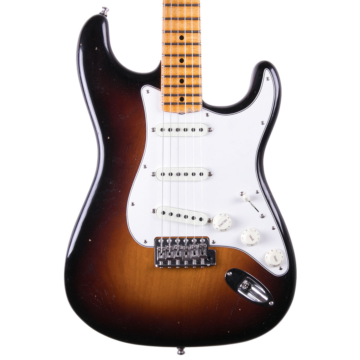 Fender Custom Shop 2018 Postmodern Strat Maple Journeyman Relic Wide Fade 2 Color Sunburst | Lucky Fret Music Co.