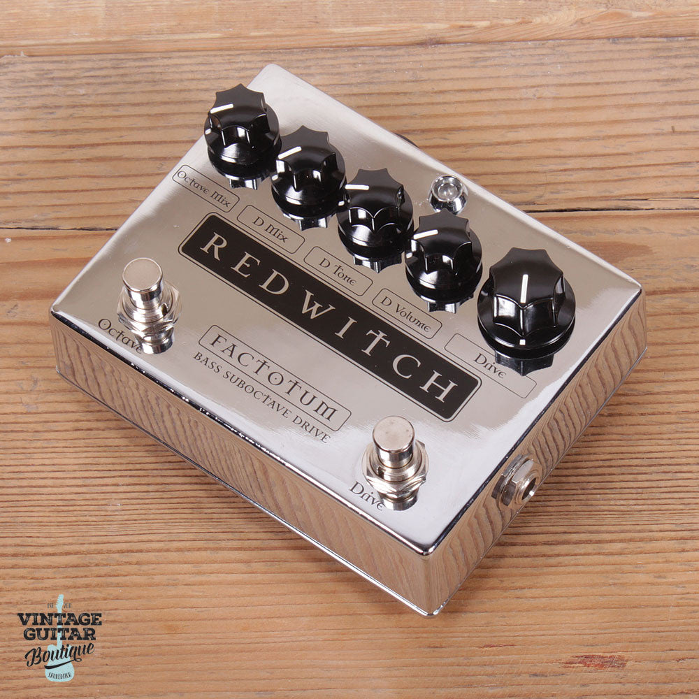 Red Witch Factotum Bass - Chrome - Bass Octaver / Overdrive - Vintage Guitar Boutique - 1