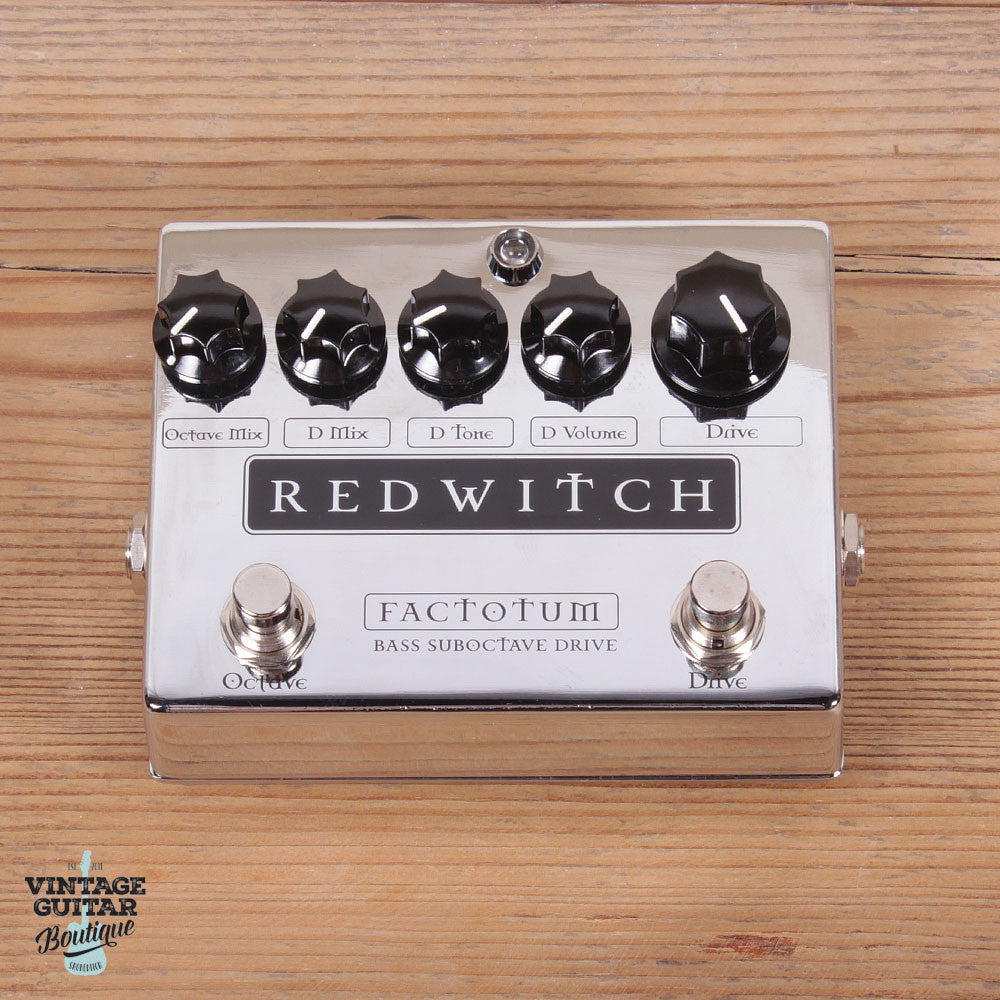 Red Witch Factotum Bass - Chrome - Bass Octaver / Overdrive - Vintage Guitar Boutique - 2