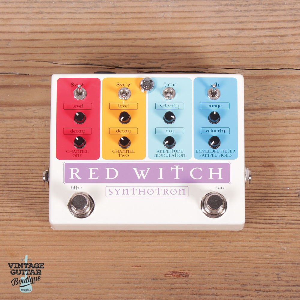 Red Witch Synthotron - Filter / Synthesiser / Octaver - Vintage Guitar Boutique - 3