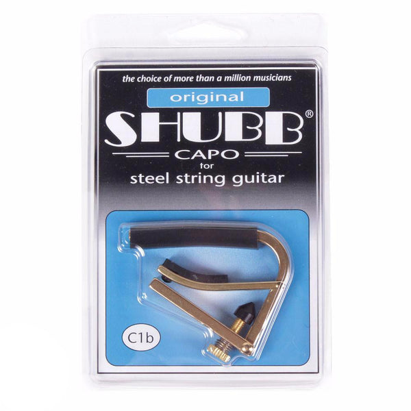 Shubb C1B Acoustic/Electric Capo - Brass - Vintage Guitar Boutique