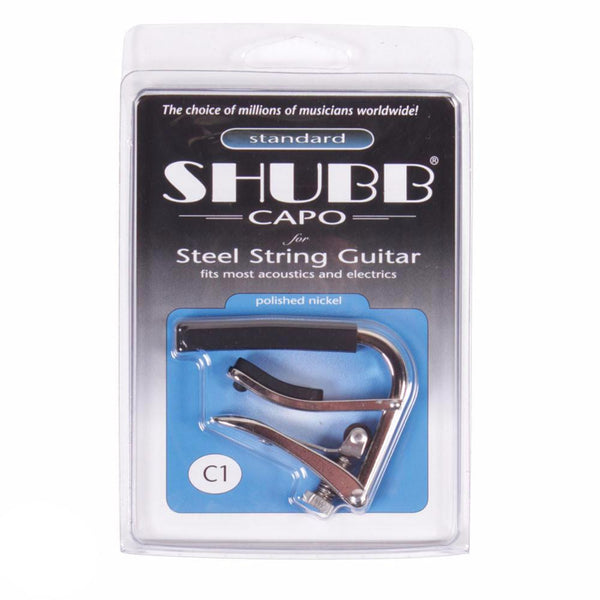 Shubb C1 Acoustic/Electric Capo - Nickel - Vintage Guitar Boutique