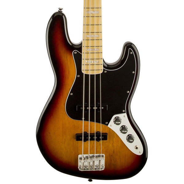 Squier Vintage Modified '77 Jazz Bass - Maple - 3-Color Sunburst - Vintage Guitar Boutique - 1