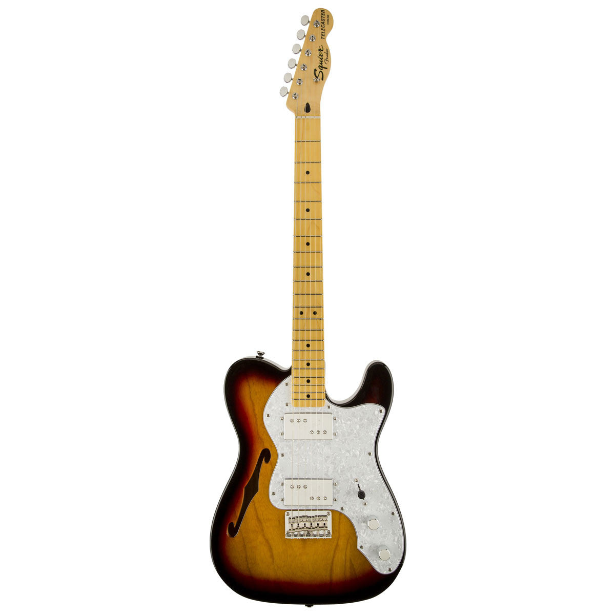 Squier Vintage Modified '72 Tele Thinline - Maple - 3-Color Sunburst - Vintage Guitar Boutique - 2