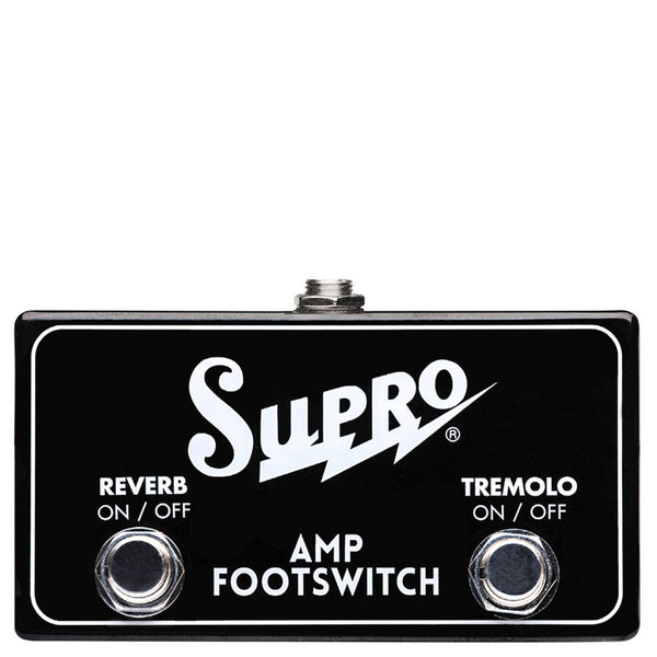 Supro SF2 - Dual Footswitch, Tremolo & Reverb On/Off | Lucky Fret Music Co.