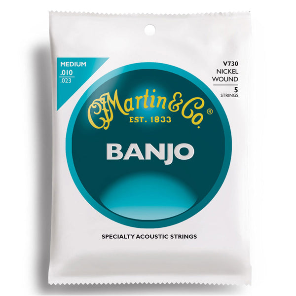 Martin V730 Vega Banjo Strings - Medium | Lucky Fret Music Co.