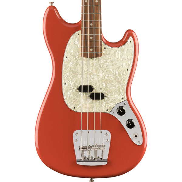 Fender Vintera '60s Mustang Bass, Pau Ferro Fingerboard, Fiesta Red Body | Lucky Fret Music Co.