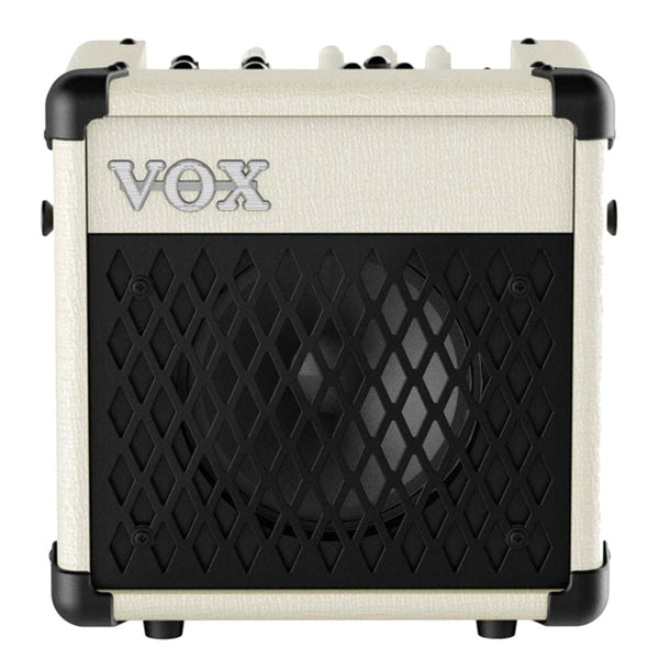 Vox MINI5-RMIV - 5-watt mains/battery modelling with effects and rhythms, Ivory finish | Lucky Fret Music Co.