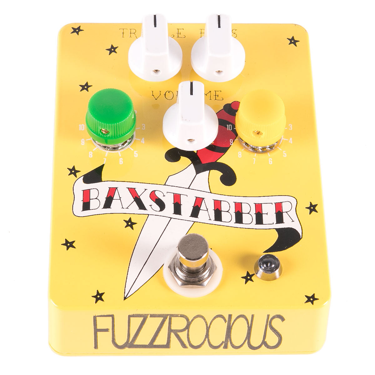 Fuzzrocious Pedals Baxstabber EQ & Preamp | Lucky Fret Music Co.