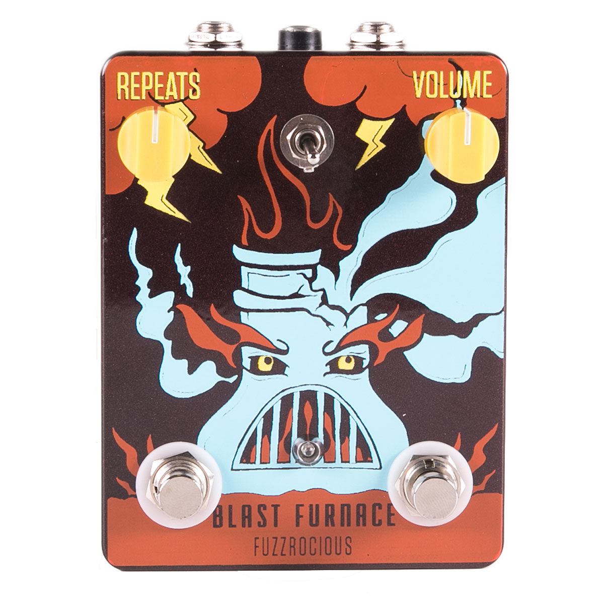 Fuzzrocious Pedals Blast Furnace Fuzz With Momentary Delay | Lucky Fret Music Co.