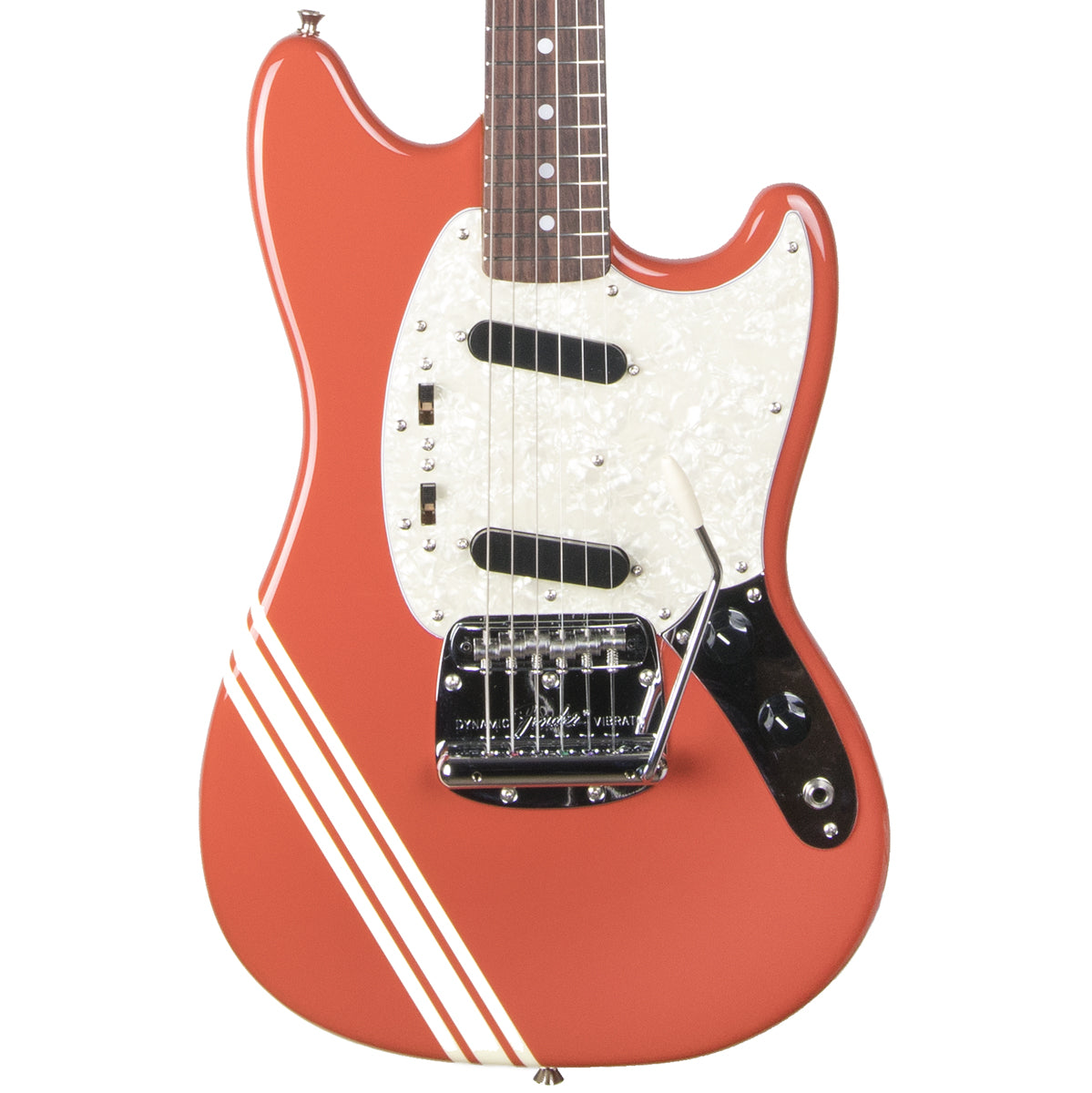 2012 Fender Japan '73 Mustang MG73-CO, Fiesta Red, Competition Stripe