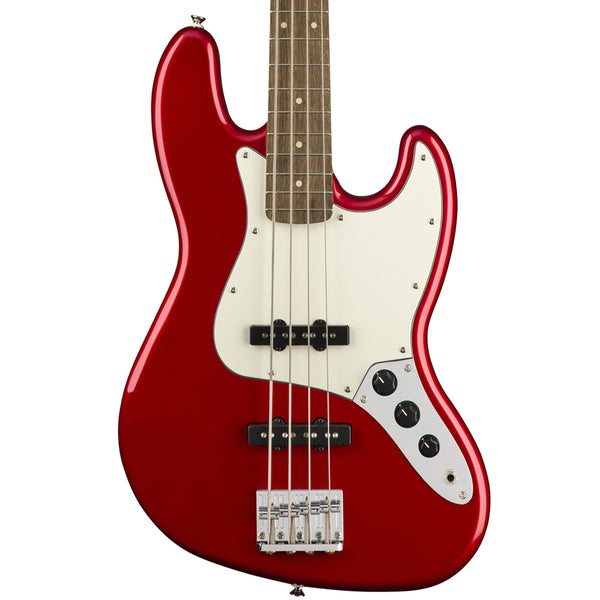 Squier Contemporary Jazz Bass, Dark Metallic Red | Lucky Fret Music Co.