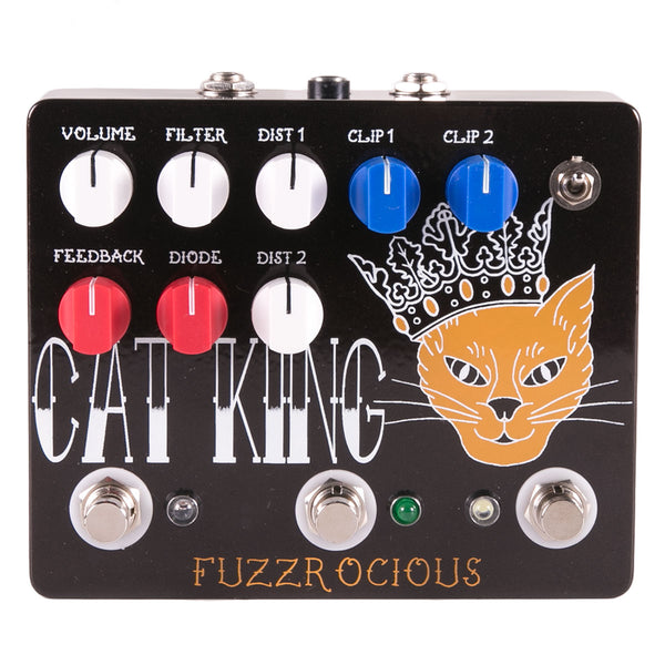 Fuzzrocious Pedals Cat King LF Dual Overdrive Distortion Latching Feedback | Lucky Fret Music Co.