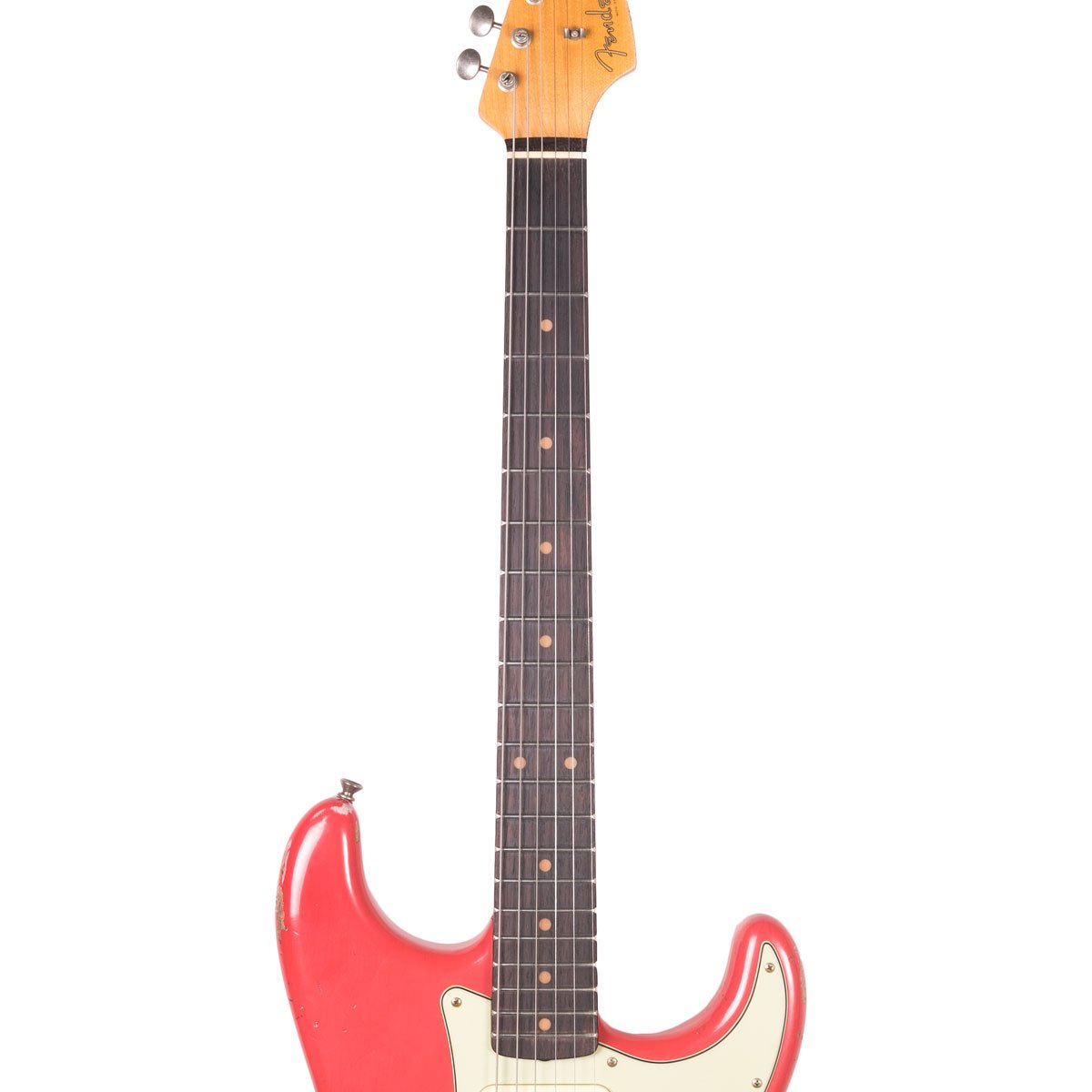 Fender Custom Shop - 1960 Relic Stratocaster - Aged Fiesta Red | Lucky Fret Music Co.
