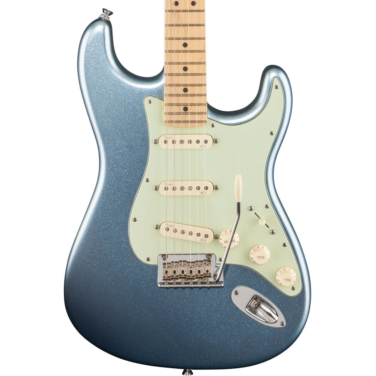 Fender American Deluxe Stratocaster Plus - Maple - Mystic Ice Blue - Vintage Guitar Boutique - 1