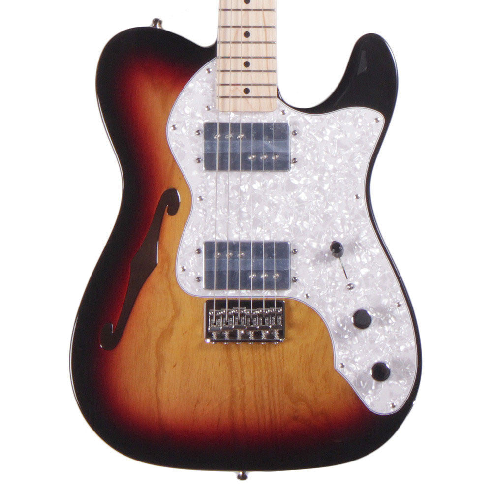 Fender Classic Series '72 Telecaster Thinline - Maple - 3-Color Sunburst - Vintage Guitar Boutique - 1
