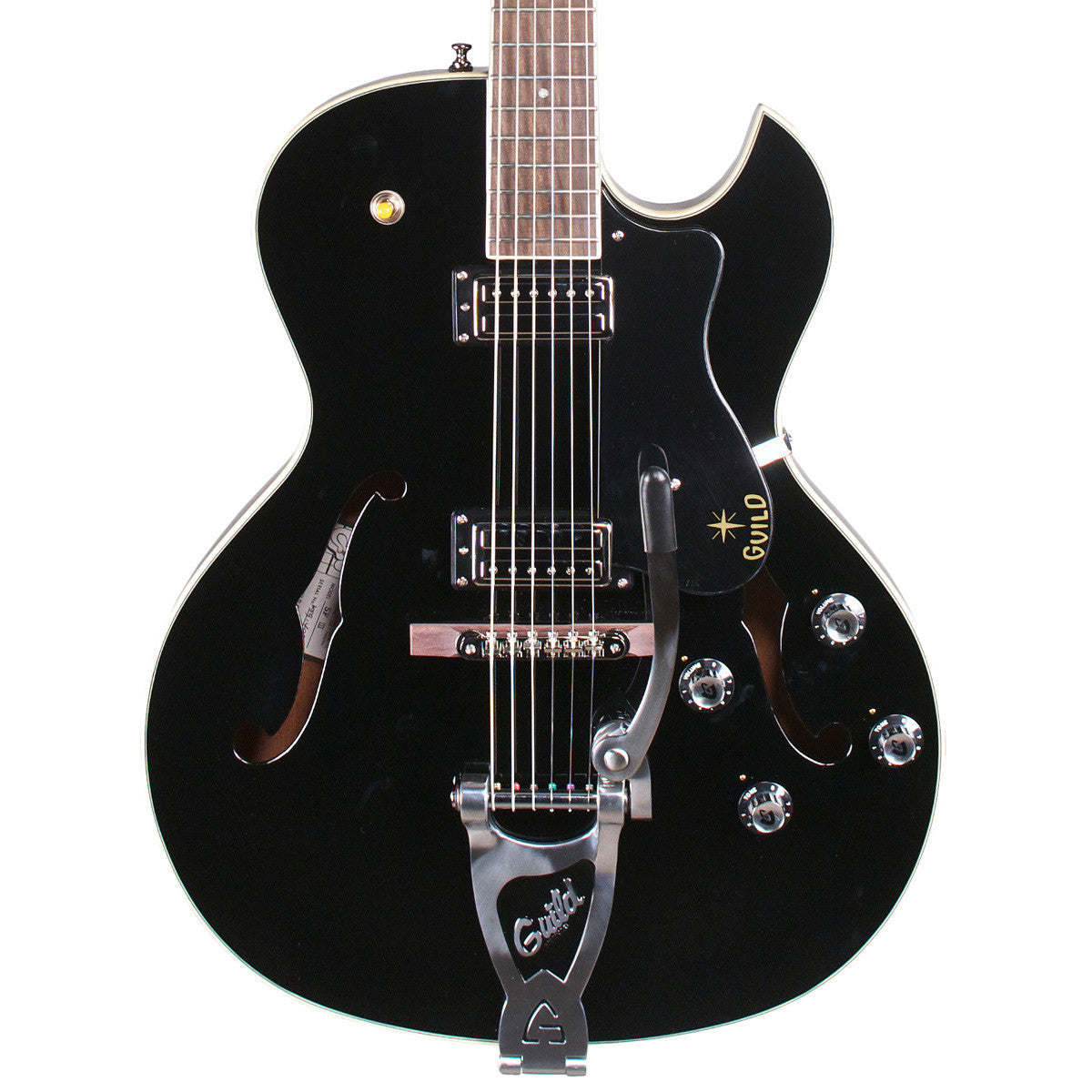 Guild Starfire III with Bigsby - Black - Newark St. Collection - Vintage Guitar Boutique - 1