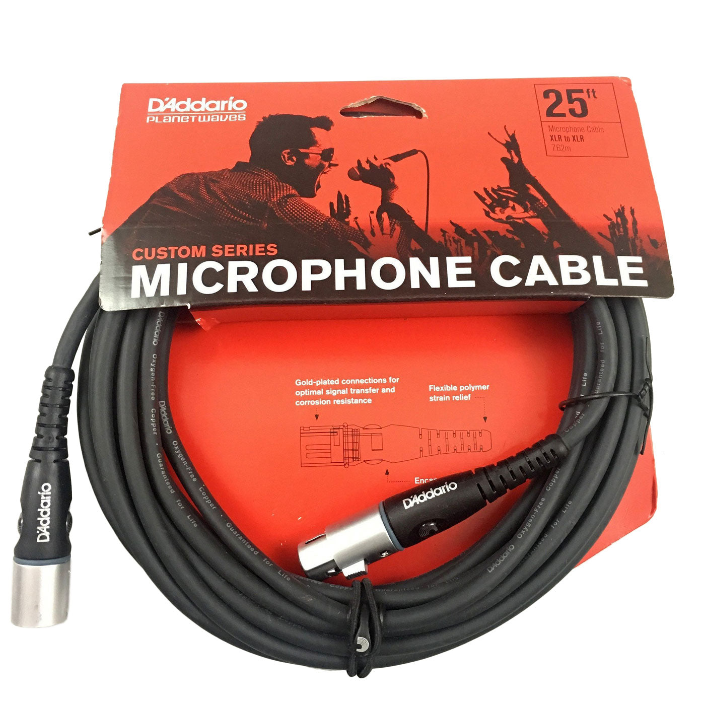 Planet Waves Custom Series XLR  Microphone Cable, 25 feet