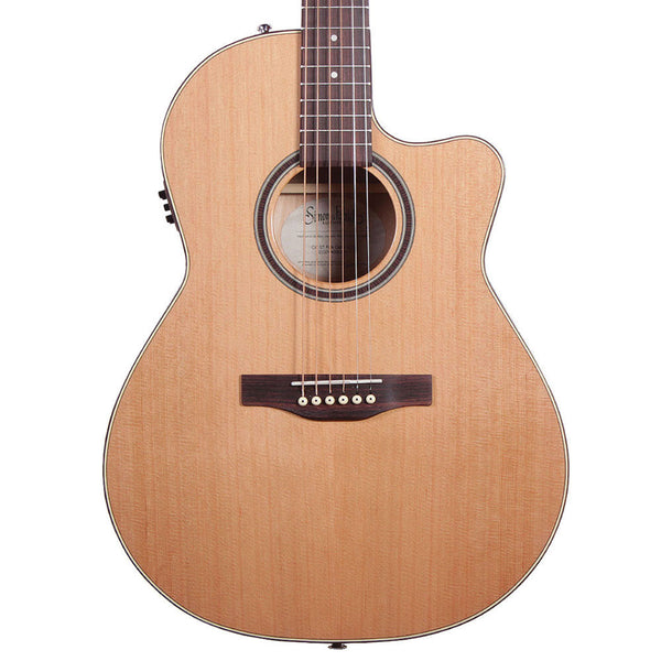 Simon & Patrick CW GT Folk Cedar A3T with Bag - Vintage Guitar Boutique - 1