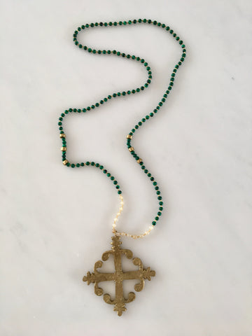 NEW YORK CROSS GOLDEN MALACHITE