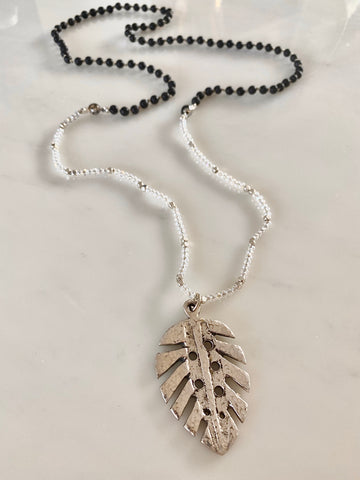 TROPICAL LEAF VOLCANIC SILVER