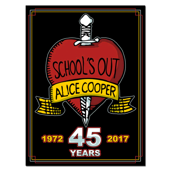 School's Out 45'th Logo Screenprinted Poster