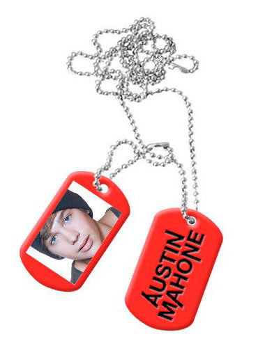 WHAT ABOUT LOVE RED DOG TAGS