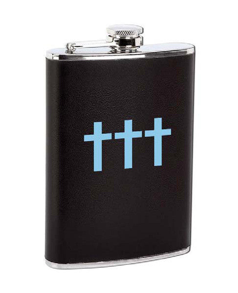 Blue Debossed Flask