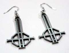Double Grucifix Earrings w/ Velvet Bag