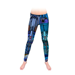 Blue Stained Glass Leggings